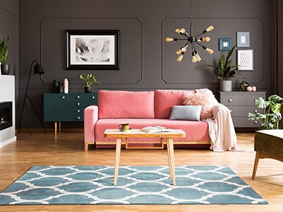 Pink couch | Floorscapes