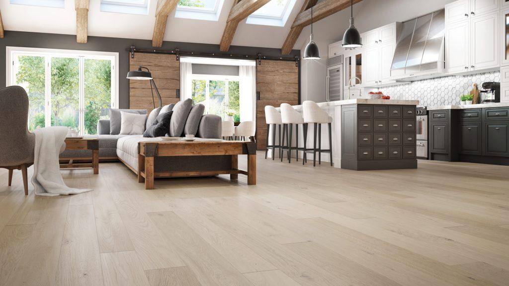 Kitchen oak flooring